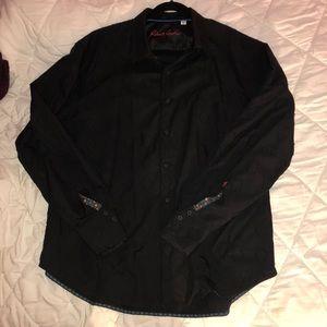 Robert Graham black button down shirt
